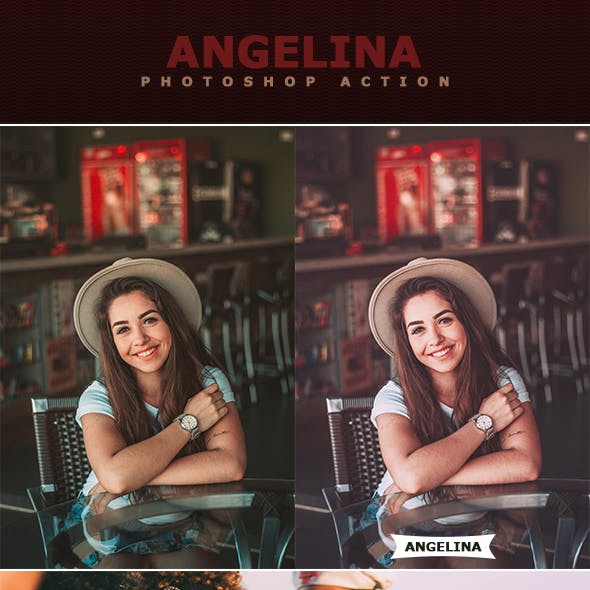 Angelina Photoshop Action