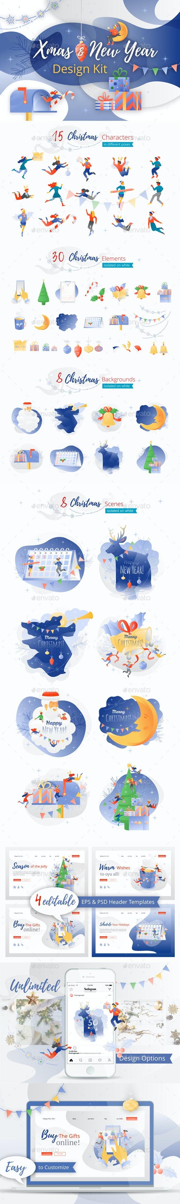 Xmas and New Year Design Kit - Christmas Seasons/Holidays