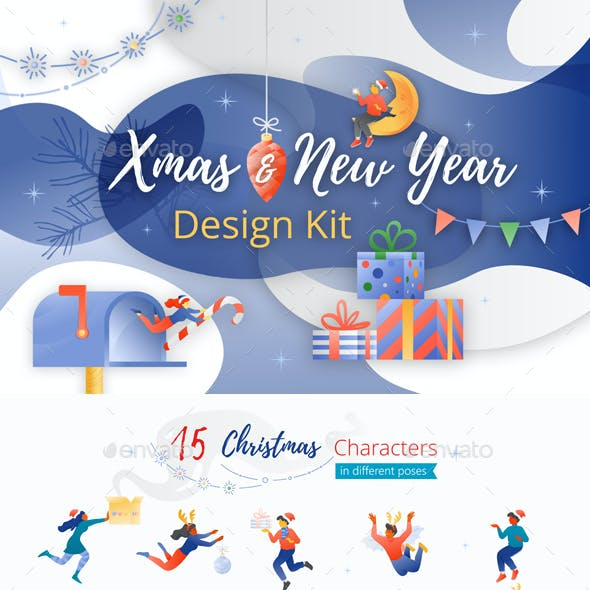 Xmas and New Year Design Kit