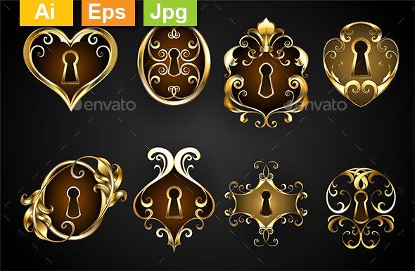 Antique Keyholes - Miscellaneous Vectors