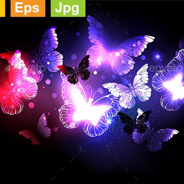 Swarm of Night Butterflies