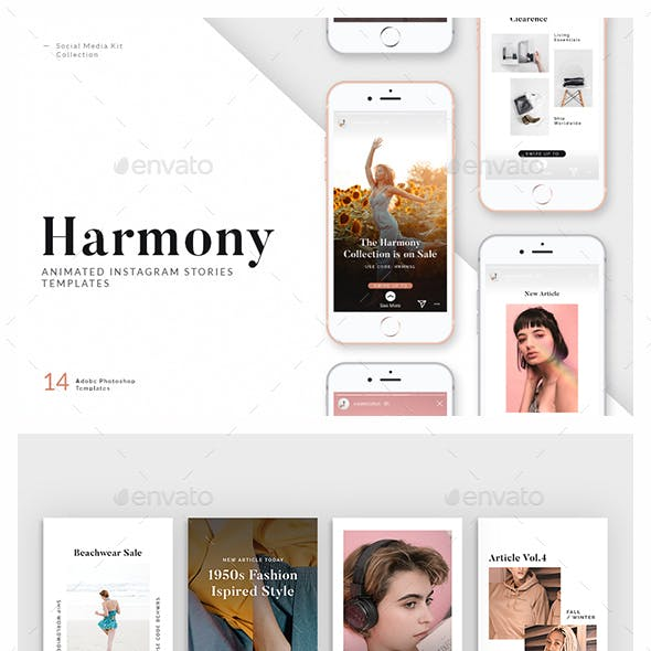 Harmony — Animated Instagram Story Templates