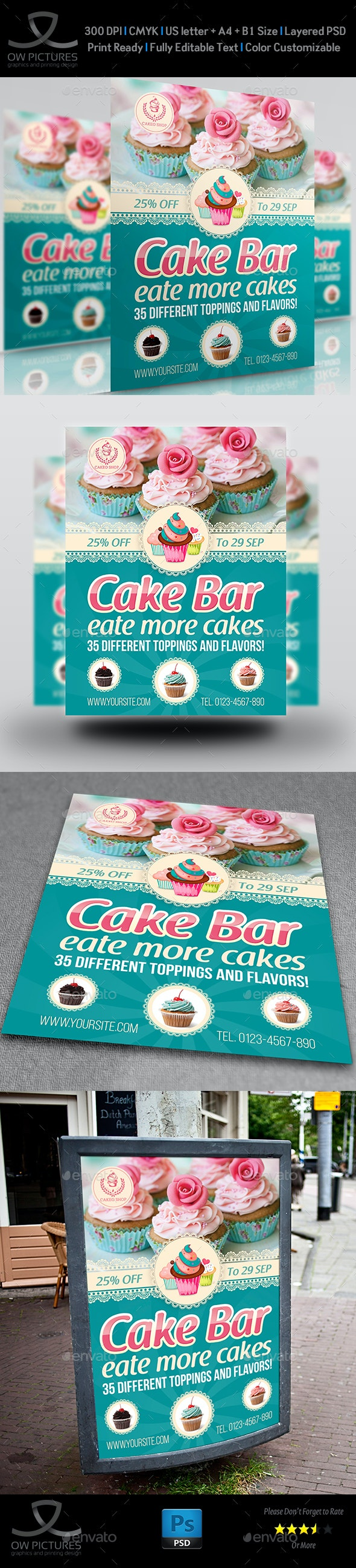 Cake Flyer Template Vol.6 - Restaurant Flyers