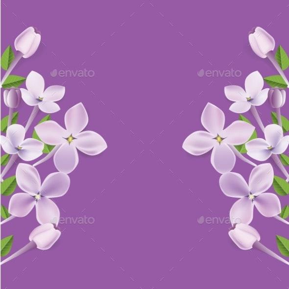 Realistic Floral Frame or Border İllustration - Flowers & Plants Nature