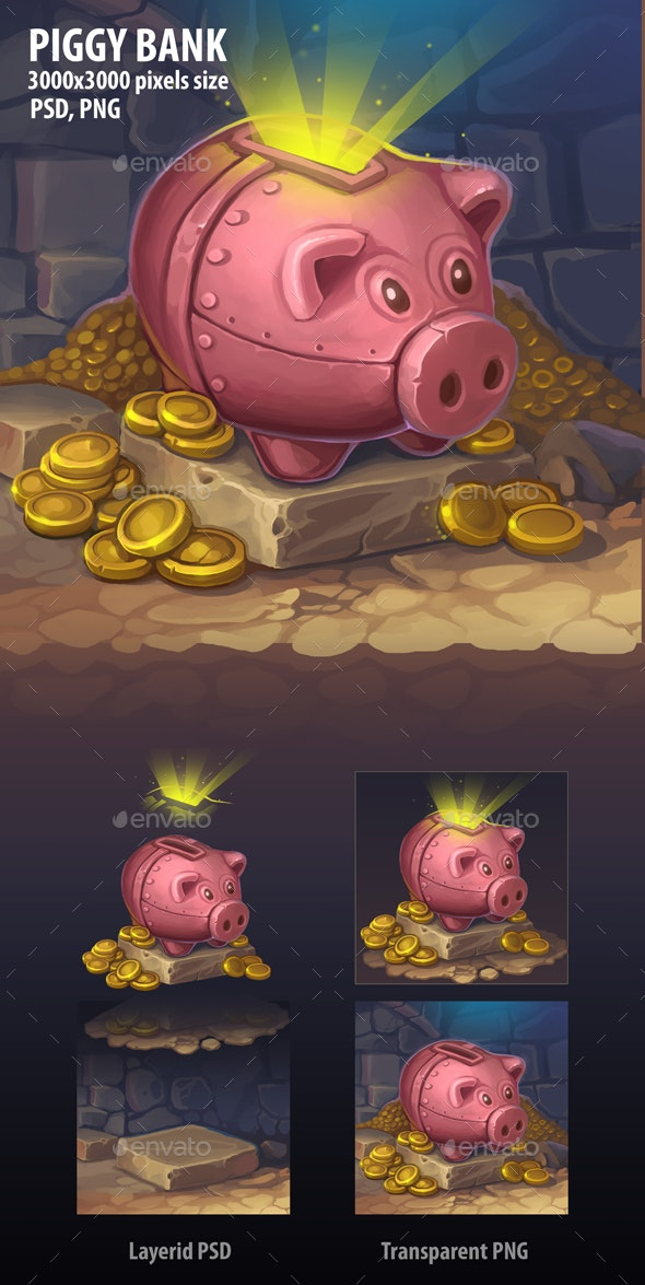 Piggy Bank - Illustrations Graphics
