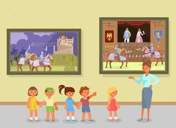 Art Museum Excursion Vector Illustration - Miscellaneous Vectors