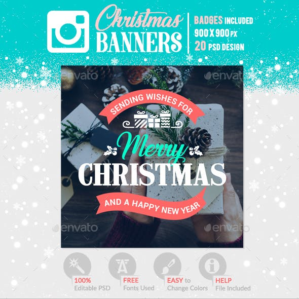 Instagram Christmas Banners