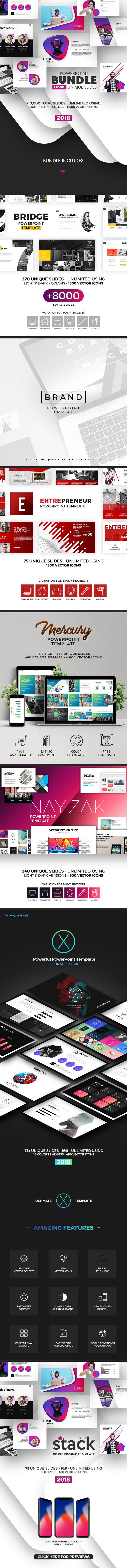 7 PowerPoint Templates - Bundle - Business PowerPoint Templates