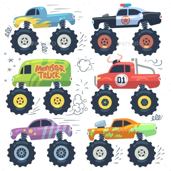 Monster Cars - Miscellaneous Vectors
