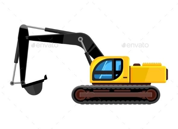 Excavator Cartoon - Miscellaneous Vectors