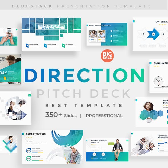 Business Direction Pitch Deck Powerpoint Template