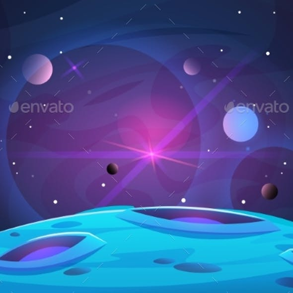 Space and Planet Background