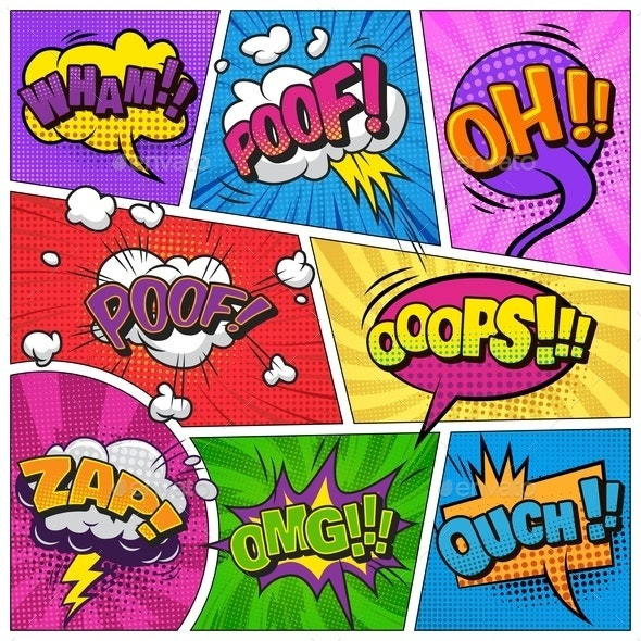 Comic Page Background - Backgrounds Decorative