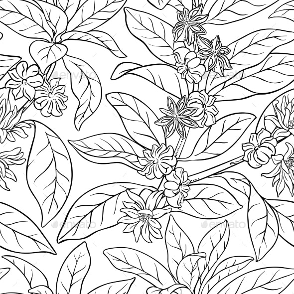 Anise Seamless Pattern - Food Objects