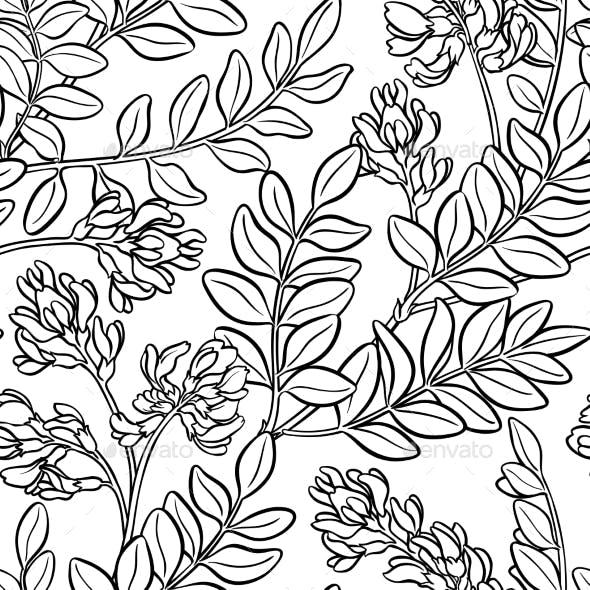 Astragalus Seamless Pattern