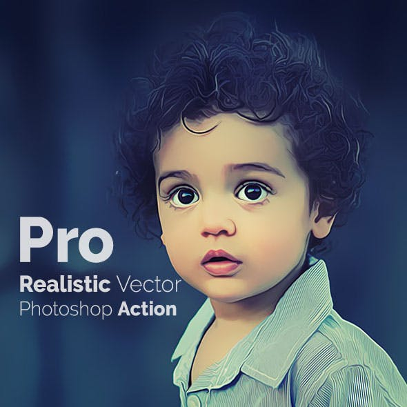 Pro Realistic Vector Photoshop Action