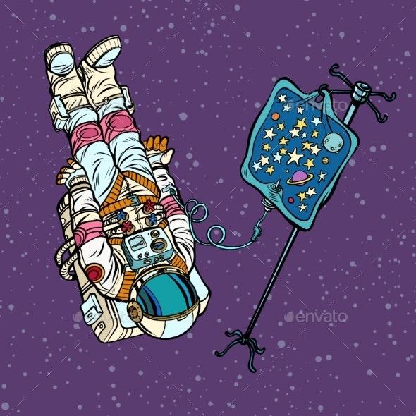 Star Fever Astronaut Under Medical Dropper - Miscellaneous Conceptual