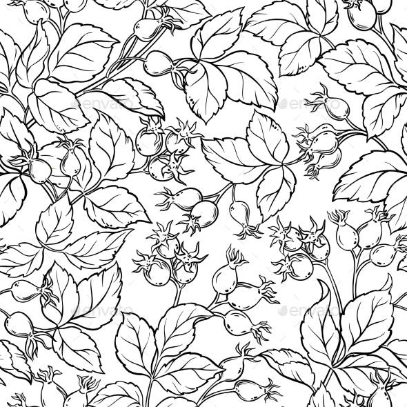 Wild Rose Seamless Pattern - Health/Medicine Conceptual