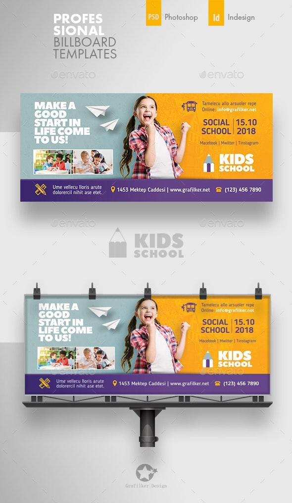 Kids School Billboard Templates - Signage Print Templates