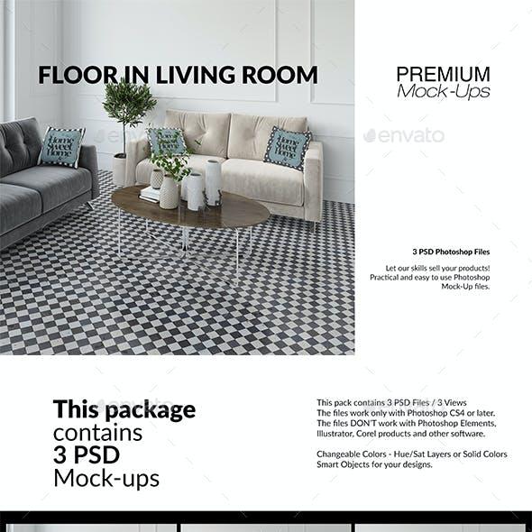 Floor in Living Room Set