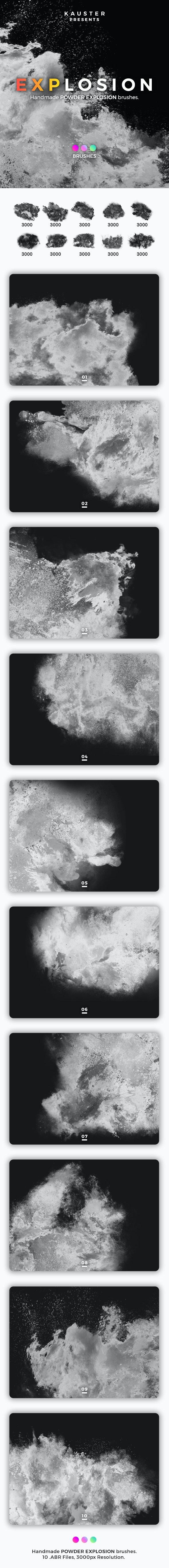 Powder Explosion Brushes - Grunge Brushes