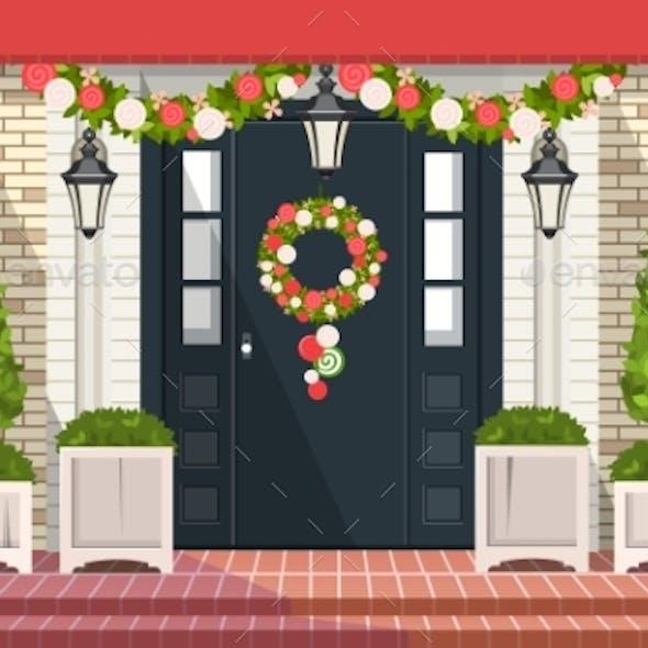 Christmas Decoration of Entrance Doors