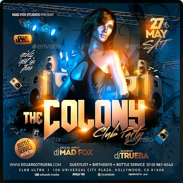 The Colony Club Party Flyer