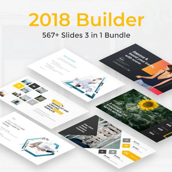2018 Builder Bundle 3 in 1 Powerpoint Template