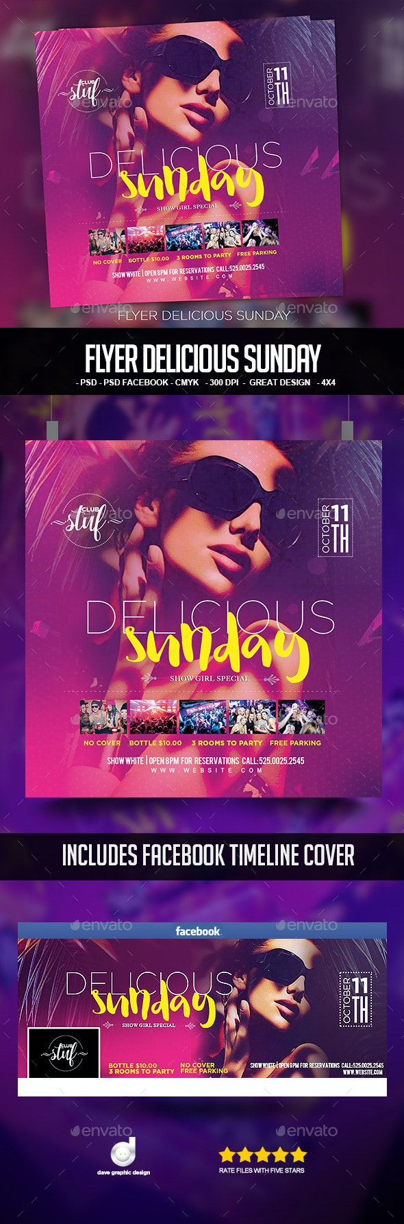 Flyer Delicious Sunday - Clubs & Parties Events