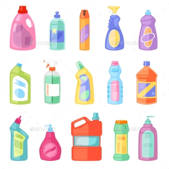 Detergent Bottle Vector Plastic Blank Container - Man-made Objects Objects