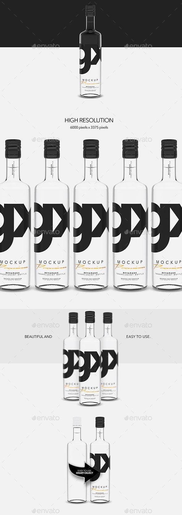 Beverage - Translucent  Bottle - Food and Drink Packaging