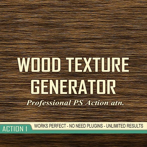 Wood Texture Generator - 8 PS Actions