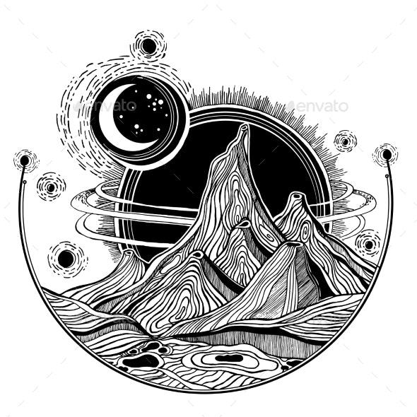 Fantasy Alien Landscape - Landscapes Nature