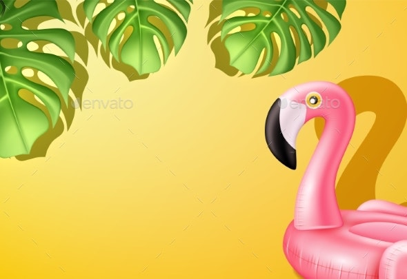 Vector Pink Flamingo Inflatable Pool Ring - Miscellaneous Seasons/Holidays