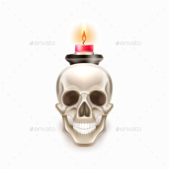 Vector Dia De Los Muertos Day of Dead Skull Candle - Miscellaneous Vectors