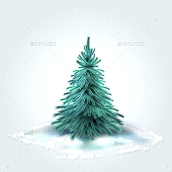Vector Christmas Tree - Christmas Seasons/Holidays