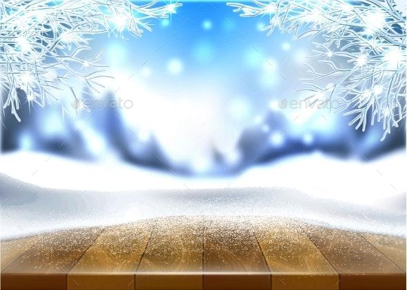 Vector Christmas New Year Holiday Poster Banner - Seasons Nature