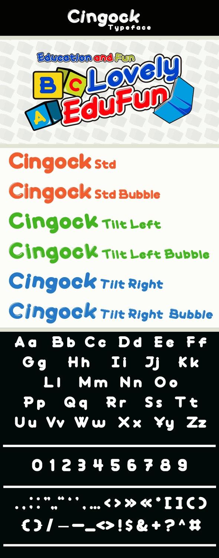 Cingock Typeface