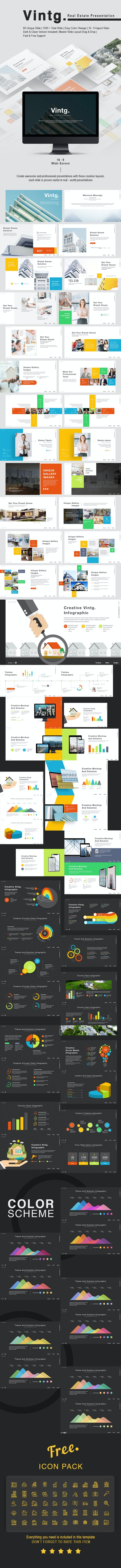 Vintg Real Estate Keynote Template - Keynote Templates Presentation Templates