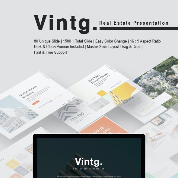 Vintg Real Estate Keynote Template
