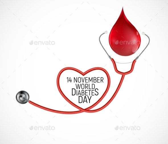 14 November World Diabetes Day Awareness - Health/Medicine Conceptual