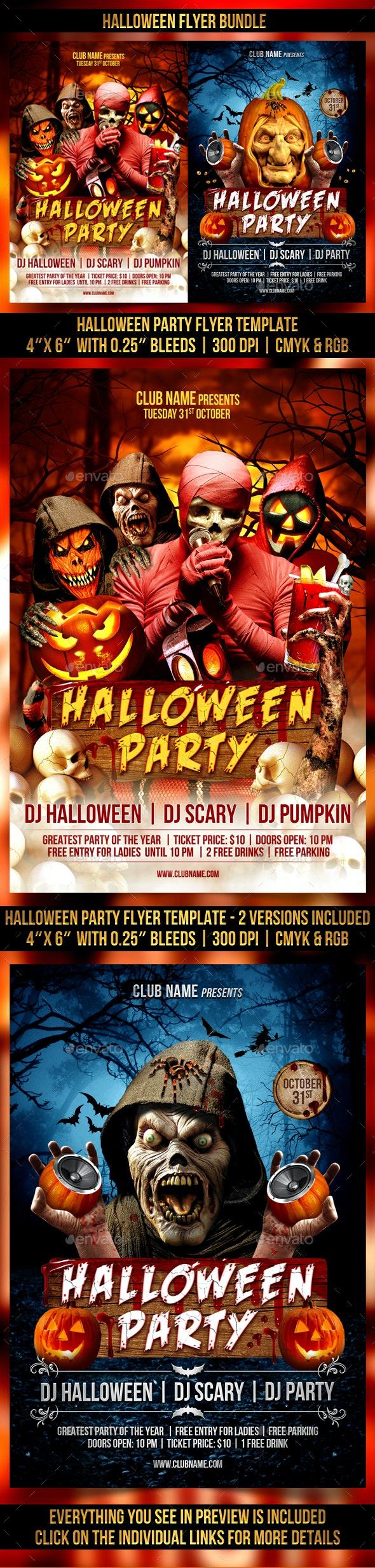 Halloween Flyer Bundle - Clubs & Parties Events