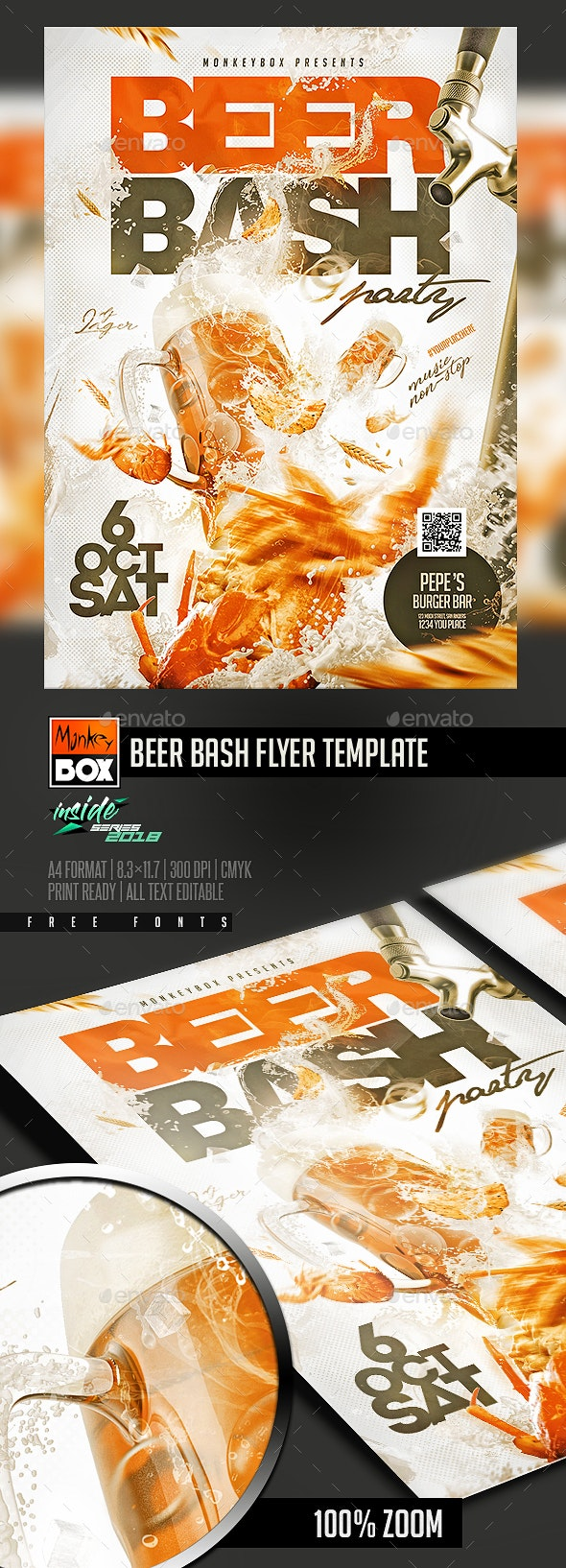 Beer Bash Flyer Template - Flyers Print Templates