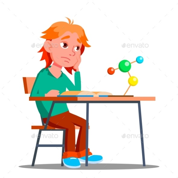 Little Boy in Chemistry Physics Class - People Characters