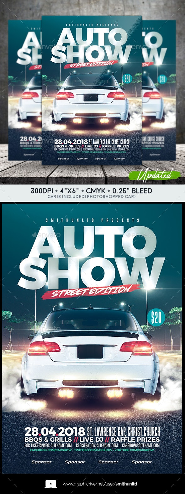 Auto Show - Street Edition - Events Flyers