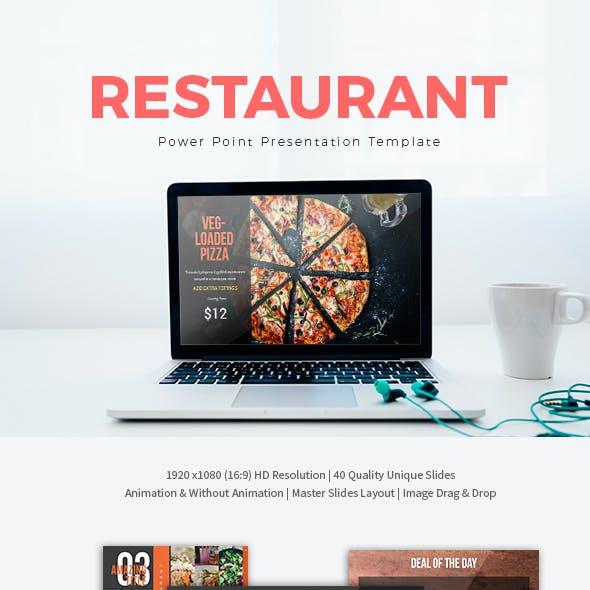 Restaurant Power Point Presentation Template