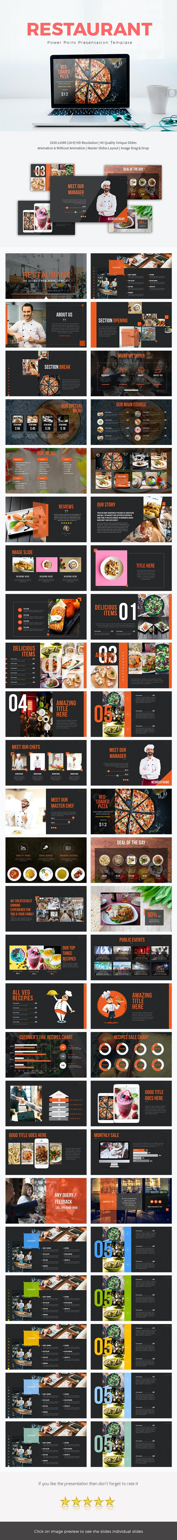 Restaurant Power Point Presentation Template - Business PowerPoint Templates