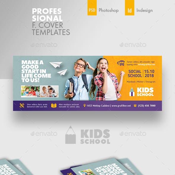 Kids School Cover Templates