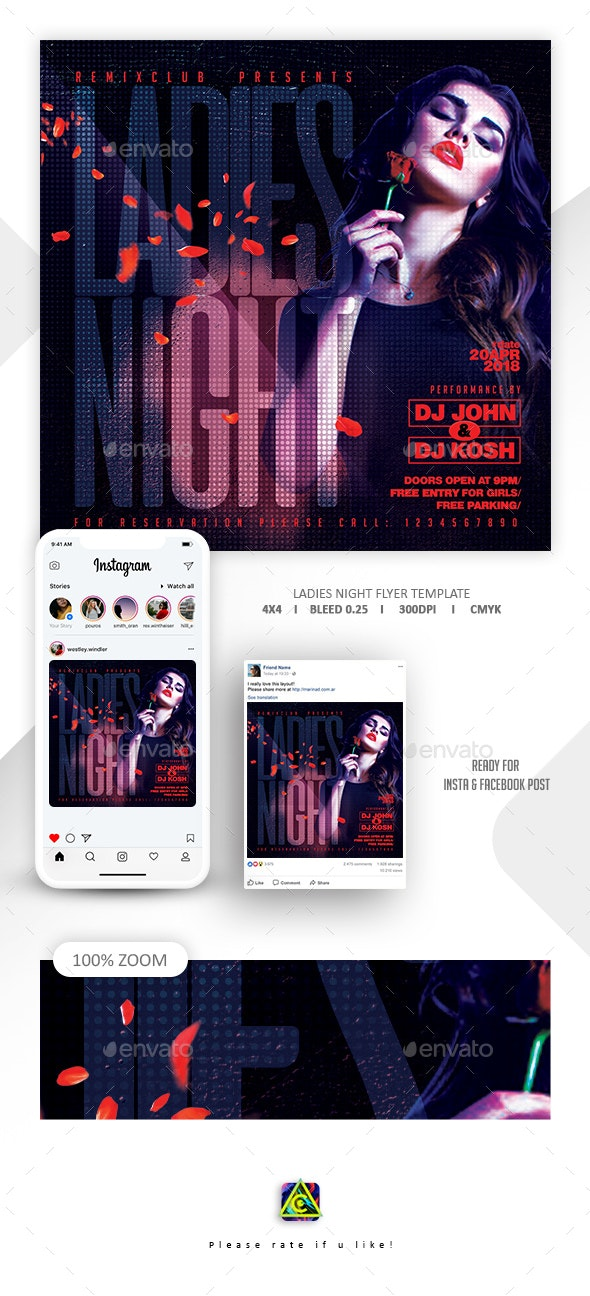 Ladies Night Flyer Template - Clubs & Parties Events