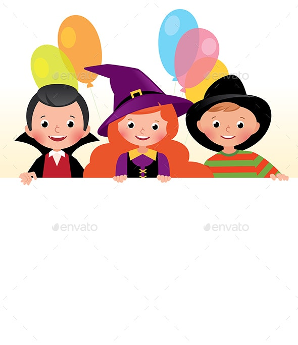 Three Friends in Halloween Costumes - People Characters